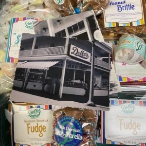 box filled with large selection of Dolle's® goodies