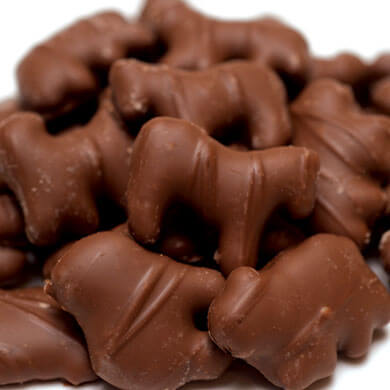 stacck of Chocolate Covered Animal Crackers