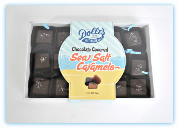 box of Dolle's®Chocolate Covered Sea Salt Caramels