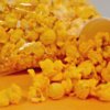 close up of cheese flavored popcorn