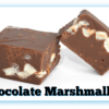2 Chocolate Marshmallow Fudge pieces with one cut in half