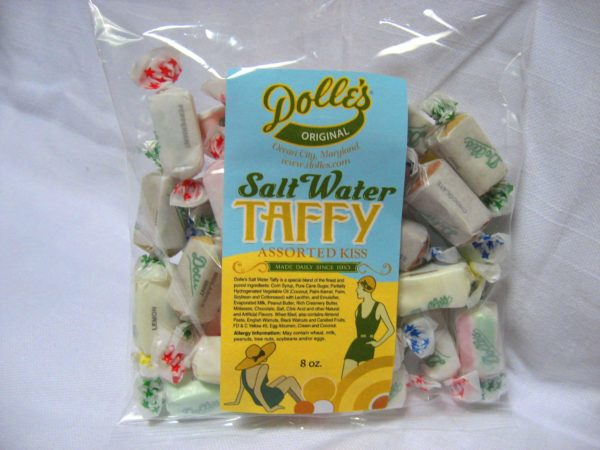 1/2 lb bag of Dolle's® Salt Water Taffy Assorted Kiss