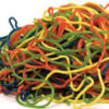 tangle of assorted colored Shoestring Licorice
