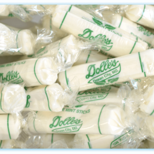 close up of wrapped Dolle's® Mellow Mint Kisses