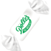 close up of single wrapped Mellow Mint Kiss