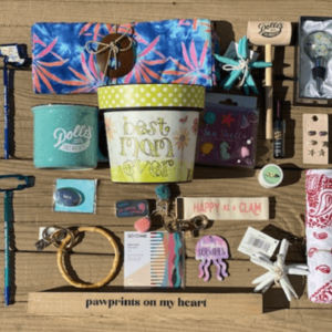 themed gift box includes a fun assortment of randomly chosen gifts and candy