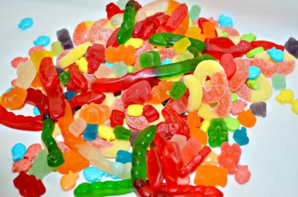 pile of assorted Gummy varieties availables