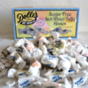 pile Dolle's® Sugar Free Salt Water Taffy Kisses in front of box