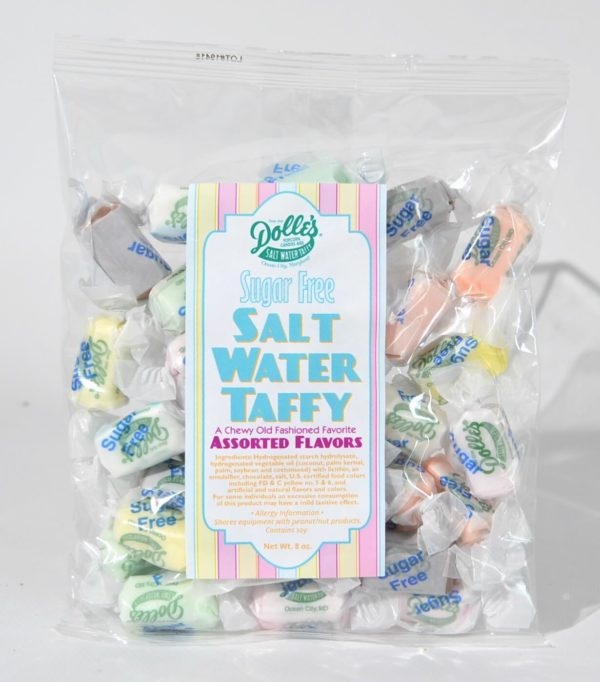 1/2 lb bag of Dolle's® Sugar Free Sat Water Taffy in assorted flavors